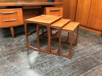Quadrille Nest of Tables by G-Plan. Retro Vintage Mid Century