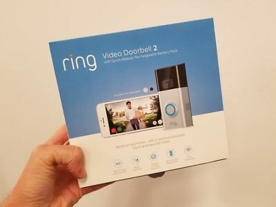 Ring - Video Doorbell 2 - Satin Nickel (AUTHENTIC - BRAND NEW)