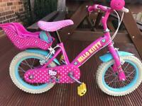 Hello kitty 14 inch bike with original stabilisers