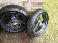 Honda 600 hornet pair of wheels