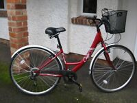 "Lady's bike. Apollo Café. 16"" frame. 6 speed gears. Hybrid tyres. Front basket. Good condiiton"