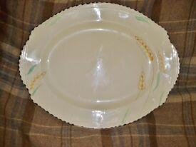 Art Deco Burleigh Ware Wheat Design Meat platter/ Serving Plate 1935