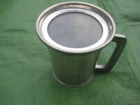 Viners of Sheffield English Pewter Beer Mug with Glass Bottom