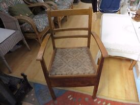 Commode Arm Chair
