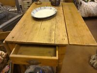RUSTIC PINE Pembroke table SOLD NOW