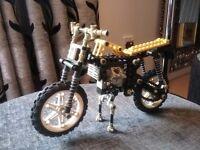 Technic Lego (8838) Trials Bike 1986 with a Technic 8024
