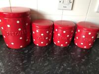 Tea coffee sugar biscuit canisters