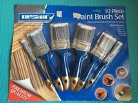 10 Piece Paintbrush set Ideal for domestic or professional use,bargain at £10, no offers