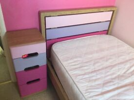 Bed, Chest & Bedside Cabinet
