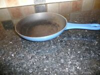 Le Creuset blue small frying pan (used)