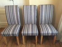 Dining room chairs set of 6 solid oak