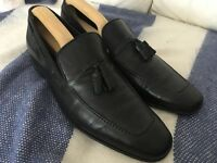 Mens Shoes Black leather loafers size 9.5 or 10 M&S Collezione Leather Genuine