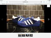 Adidas superstar 2 colour customised size 5