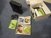 Xbox 360 250gb console + 5 games