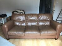 FREE Tan 3 seater sofa and chair
