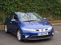 2010 Honda Civic 2.2 i-CTDi EX Diesel Hatchback 5door blue top spec MOT clean car drive spot on