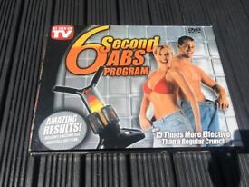6 second abs program - crunch trainer with DVD
