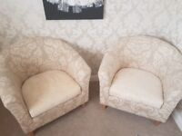 2 x tub chairs good condition