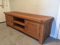 Wiltshire oak tv unit