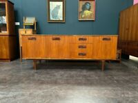 Mid Century Sideboard in Teak by Nathan. Retro Vintage Mid Century 1960s
