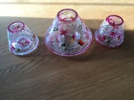 Yankee Candle plates and shades