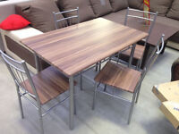 Brand new table+4 chairs