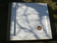 New and boxed shower tray, 760mm x 760mm, with 90mm waste (new)