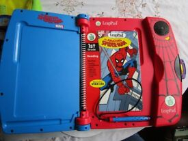 Limited Edition Spiderman Leapfrog -Blue & Red Leappad Bundle with 4 games & Books & Case