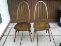2 Ercol Windsor Chairs in Quaker design