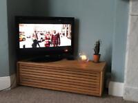 Habitat oak TV unit. Only a year old