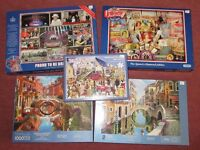 5 x 1000 piece Jigsaws