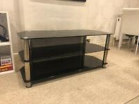 Black Glass TV Stand - perfect condition!