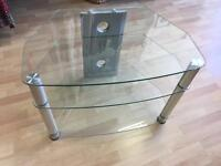 Silver and Glass tv unit