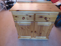 Solid Pine 2 door Sideboard/Cupboard