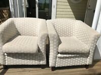 2 x Bucket arm Chairs - £25 each