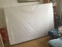 New, double, memory foam mattress. Unused, still in wrapping.