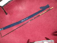 "Shakespeare Fly Fishing Rod. 2.85m or 9' 4"" long in 2 sections with bag"