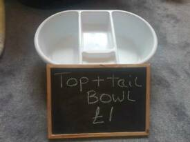 Baby top & tail bowl
