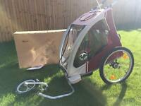 Bluebird dual use aluminum child bike trailer / jogger