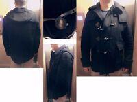Burberry London Classic Black Wool Duffle Coat