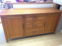 Quality contemporary modern solid oak sideboard