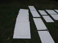 Used, Used white kitchen doors from B and Q for sale  Somerset