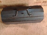 Vintage Blue Metal Toolbox With Tray And Assortment Of Tools-Proceeds To Local Charity