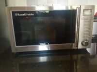 Like NEW! Stainless Steel Russell Hobbs Grill Microwave