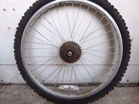 Mountain Bike Wheel, 26 Inch, Rear