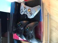 Xbox one with 2 controllers & games