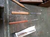 Vintage carving chisels