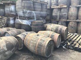Oak Whisky barrels 3 sizes £20 each limited stock