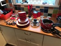 Job lot of kitchenware, utensils, pans ect