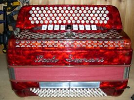 Paolo Soprani, 4 Voice, Musette Tuned, 5 Row, C System, Chromatic Accordion.